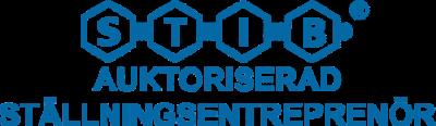 Logotyp för STIB: Auktoriserad ställningsentreprenör