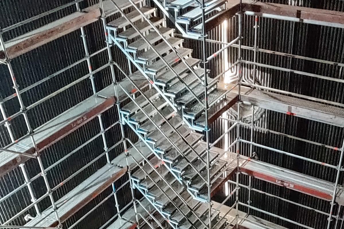 Bild på en så kallad LOTS-trappa.